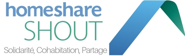 Homeshare Shout logo in French